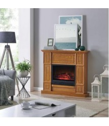 Bold Flame Electric Fireplace Heater 43 In Mantle Adjustable Flame Remote Control 4600 BTU