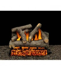 American Gas Log Dundee Oak 18 In. Vented Natural Gas Fireplace Log Set With Complete Kit, Match