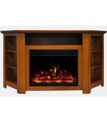 Almo Stratford Electric Fireplace Heater with 56