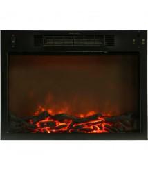 Cambridge 33.9-inchx10.4-inchx37-inch Sienna Fireplace Mantel with Insert - Teak
