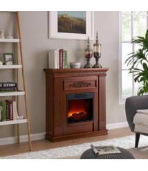 Bold Flame 38 inch Indoor Free Standing Electric Fireplace 1400W 4600-BTU Fan-Forced Heater