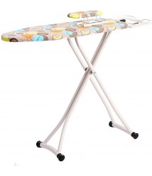 Cajolg Ironing Board Household Folding Desktop Reinforced Ironing Board Height Adjustable Stable and Non-Slip 43.3x12.2x34.3 Inches