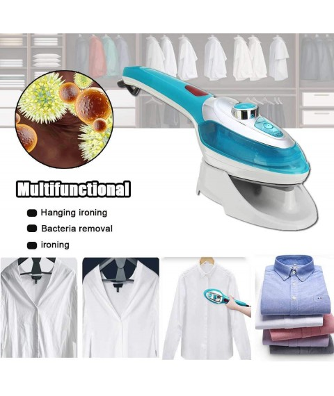 220V 1000W Portable Clothes Iron, Household Travel Clothes Cleaning Brush, Handheld Mini Steam Ironing Machine,B RMCX (Color : B)