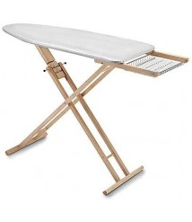 Aris Multistir - Folding Ironing Board In Solid Beech Wood - 3 height positions - Handcrafted in Italy - Natural Finish
