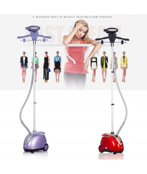 Garment Ironing Machine, Vertical Hand-Held Clothes Ironing Machine, Small Household Steam Iron, Ten-Speed Adjustment, Fast Wrinkle Removal, Suitable for Household and Clothing Stores,Purple,EU