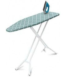 4-Leg Top Ironing Board, Blue Lattice Cover- Ironing Board Cover-Polder Ultimate Ironing Station-Ironing Holder-Wall Ironing Board Holder-Iron Board Holder- Wall Mount